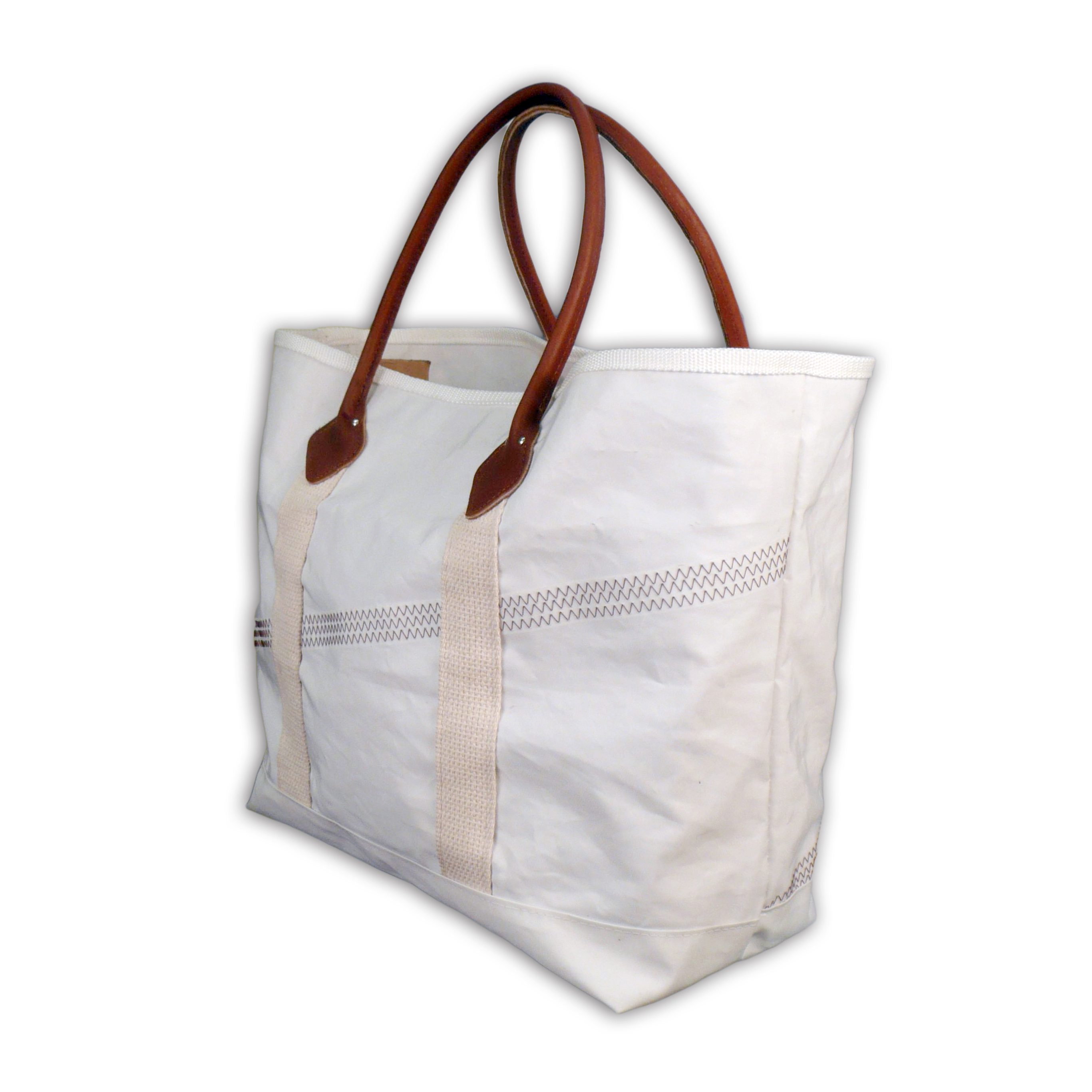 Upcycled Sailcloth Tote Bag with Leather Handles – Rhino Totes